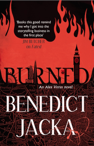 Book Review: Burned, An Alex Verus Novel, by Benedict Jacka